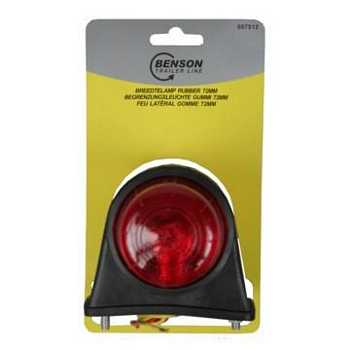 Breedtelamp rubber licht rood / wit 12V - 5W (74mm)