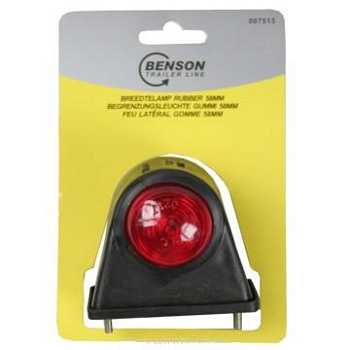 Breedtelamp rubber licht rood / wit 12V - 5W (58mm)