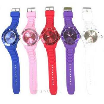 Horloge silicone mix color