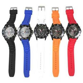 Horloge silicone chrono mix color