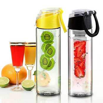 Waterfles met fruitfilter infuser 700 ml