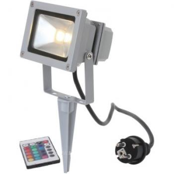 LED  Floodlight 10W RGB op spies met afstandsbediening