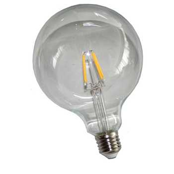 Bellson LED filament lamp, G125, E27, 6W, 670 lumen, warm wit